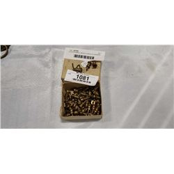 OVER 60 SMALL BRASS SCREW IN DRAWER HANDLES