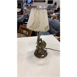 ENGLISH BRASS FIGURAL TABLE LAMP