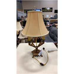 ART DECO CANDLEABRA STYLE TABLE LAMP W/ ORIGINAL SILK CORD