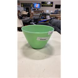 6 X 9-1/2 INCH JADEITE BOWL BY FIREKING