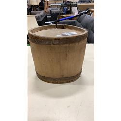 ANTIQUE WOODEN SHIP CANTEEN