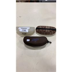 MAUI JIM, D+G, AND VERSACE SUNGLASS HARDCASES