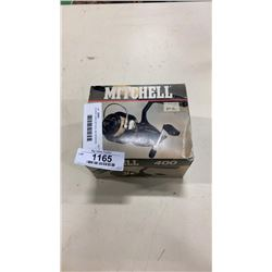 AS NEW CASED MITCHEL 400 SPINNING REEL W/ EXTRA SPOOL