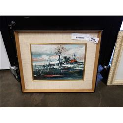 SIGNED OIL ON BOARD MELTING SNOW BY F SCHONGERLIER