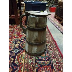 100 YEAR OLD WOODEN FLAGON - FRAGILE