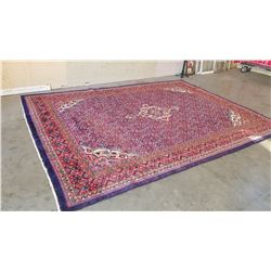 13 FOOT BY 10 FOOT HAND MADE HAND DYED MADE IN INDIA CARPET