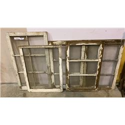 LOT OF ANTIQUE WINDOWS