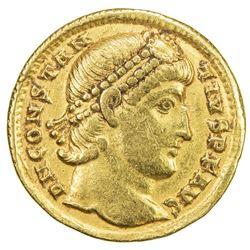 ROMAN EMPIRE: Constantius II, 337-361 AD, AV solidus (4.31g), Antioch, 355-361. VF