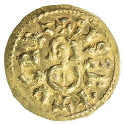 VISIGOTHS IN SPAIN: Sisebut, 612-621, AV tremissis (1.42g), Emerita (Merida). EF-AU