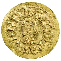 VISIGOTHS IN SPAIN: Suinthila, 621-631, AV tremissis (1.44g), Barbi. UNC