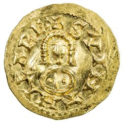 VISIGOTHS IN SPAIN: Suinthila, 621-631, AV tremissis (1.51g), Emerita (Merida). AU
