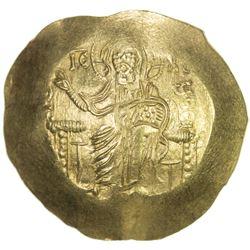 BYZANTINE EMPIRE: John II Comnenus, 1118-1143, AV hyperperon (4.26g). EF