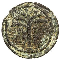 ANCIENT JUDEA: Bar Kochba Revolt, 132-135 AD, AE small bronze (4.95g), year 1 (132/3 AD). VF