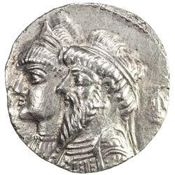 ELYMAIS: Kamnaskires III & Queen Anzaze, ca. 82-72 BC, AR tetradrachm (13.78g), ND. VF-EF