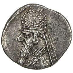 PARTHIAN KINGDOM: Mithradates II, 121-91 BC, AR drachm (4.01g), Ekbatana. EF
