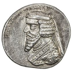 PARTHIAN KINGDOM: Phraates III, 70-57 BC, AR drachm (4.17g), Mithradatkart (struck ca. 62-57 BC). EF
