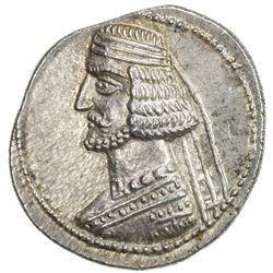 PARTHIAN KINGDOM: Mithradates IV, 57-54 BC, AR drachm (4.15g), Mithradatkart. EF