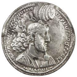 SASANIAN KINGDOM: Hormizd I, 272-273, AR drachm (4.08g). VF