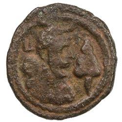 SASANIAN KINGDOM: Yazdigerd I, 399-420, AE pashiz (1.45g). VF