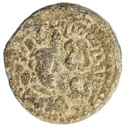 SASANIAN KINGDOM: Varhran V, 420-438, lead 16mm (2.95g). F