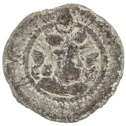 SASANIAN KINGDOM: Peroz, 457-484, lead 18mm (3.03g), BBA (the Court mint). F