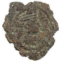 SASANIAN KINGDOM: Ardashir III, 628-630, AE pashiz (0.82g), MM, year 2. F