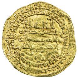 ABBASID: al-Mu'tamid, 870-892, AV dinar (4.14g), al-Rafiqa, AH274. F-VF