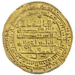 ABBASID: al-Mu'tamid, 870-892, AV dinar (4.20g), Madinat al-Salam, AH273. VF