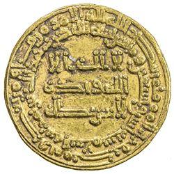 ABBASID: al-Muktafi, 902-908, AV dinar (4.29g), Madinat al-Salam, AH292. VF