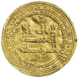 ABBASID: al-Muktafi, 902-908, AV dinar (3.99g), Misr, AH292. F-VF