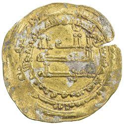 ABBASID: al-Muktafi, 902-908, AV dinar (4.00g), Qumm, AH293. VF