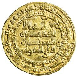 ABBASID: al-Muktafi, 902-908, AV dinar (4.12g), Madinat al-Salam, AH291. VF