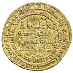 ABBASID: al-Muktafi, 902-908, AV dinar (4.40g), al-Basra, AH291. F-VF