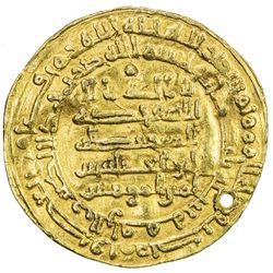 ABBASID: al-Muqtadir, 908-932, AV dinar (4.49g), al-Rafiqa, AH300. VF