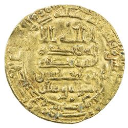 ABBASID: al-Muqtadir, 908-932, AV dinar (3.33g), Filastin, AH311. VF