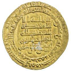 ABBASID: al-Muqtadir, 908-932, AV dinar (4.61g), Mah al-Basra (= Nihawand), AH314. EF