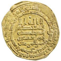 ABBASID: al-Muqtadir, 908-932, AV dinar (3.46g), Hamadan, AH317. EF