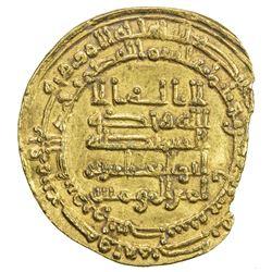 ABBASID: al-Muqtadir, 908-932, AV dinar (4.16g), Wasit, AH317. VF