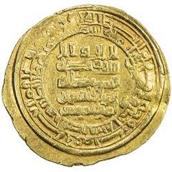 ABBASID: al-Qahir, 932-934, AV dinar (4.44g), al-Basra, AH321. VF