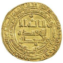 ABBASID: al-Radi, 934-940, AV dinar (5.27g), Tustar min al-Ahwaz, AH324. VF-EF