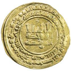 ABBASID: al-Radi, 934-940, AV dinar (3.23g), Qumm, AH326. VF