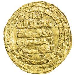 ABBASID: al-Mustazhir, 1094-1118, AV dinar (2.70g), Madinat al-Salam, AH496. EF