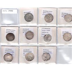 ABBASID: LOT of 9 Abbasid and 1 Umayyad silver dirhams