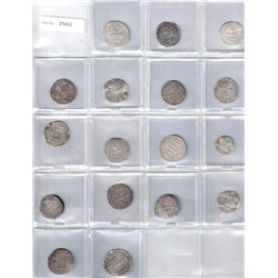 ABBASID: LOT of 17 silver dirhams