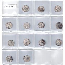 ABBASID: LOT of 13 silver dirhams
