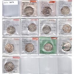 UMAYYAD OF SPAIN: LOT of 12 silver dirhams of the Emirate of Cordoba