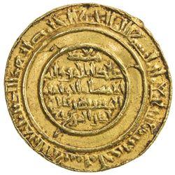 FATIMID: al-Mustansir, 1036-1094, AV dinar (4.12g), Tarabulus (Trablus), AH471. VF