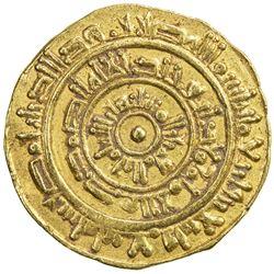 FATIMID: al-Mustansir, 1036-1094, AV dinar (4.19g), Misr, AH444. VF