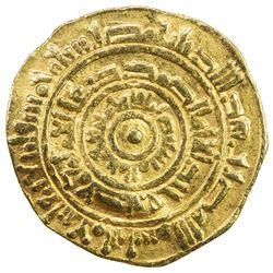 FATIMID: al-Mustansir, 1036-1094, AV dinar (4.20g), Misr, AH445. VF