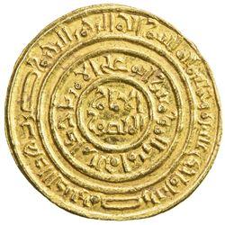 FATIMID: al-Amir al-Mansur, 1101-1130, AV dinar (4.25g), Misr, AH511. AU
